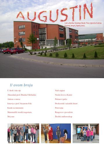 Augustin 6 web.pdf - Srednja škola Tina Ujevića Kutina