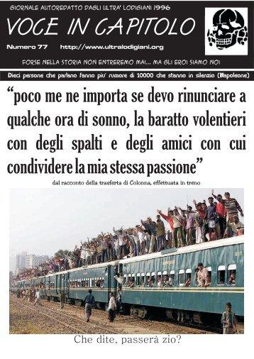 """""""Voce in Capitolo""""numero 77 (18/01/2009) - Ultrà Lodigiani"""