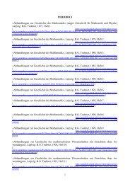 Abhandlungen zur Geschichte der Mathematik - Biblioteca europea ...
