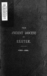 A short history of the ancient diocese of Exeter