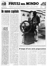 FRIULI NEL MON: » - Ente Friuli nel Mondo
