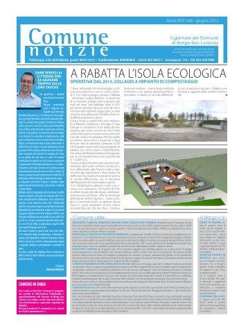 A RAbATTA L'ISoLA ECoLoGICA - Comune di Borgo San Lorenzo