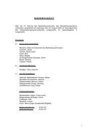 NIEDERSCHRIFT über die 10. Sitzung des Betriebsausschusses ...