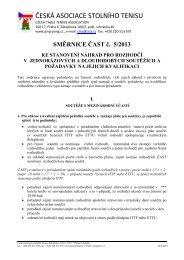 Směrnice ČAST č. 5/2013 - Česká asociace stolního tenisu