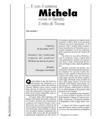 """""""Michela"""" rivive in Senato il mito di Tirone - Fondazione Giulietti"""