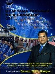 Ucaptama Tahunan Naib Canselor 2011.pdf - Universiti Malaysia ...