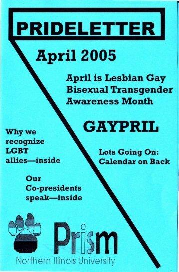 April 2005 Pride Letter - Northern Illinois University