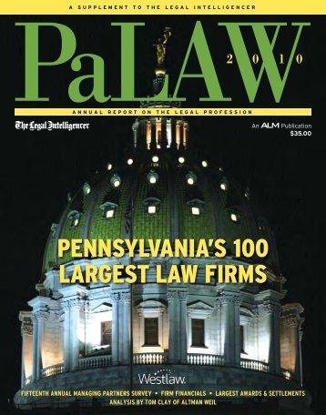 PENNSYLVANIA'S 100 LARGEST LAW FIRMS - Sheller, P.C.