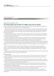 El fiscal pidió que Peña no salga más de la cárcel - La Nueva ...