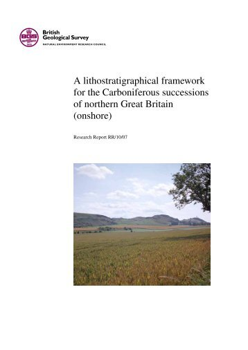 A lithostratigraphical framework for the Carboniferous successions of