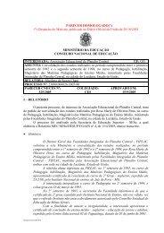 PARECER HOMOLOGADO(*) - Ministério da Educação
