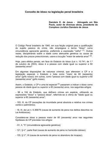 Conceito de idoso na legislação penal brasileira