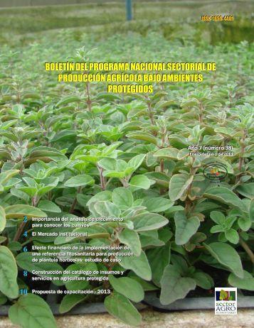 Número 38. Enero-febrero 2013 - Ministerio de Agricultura y ...