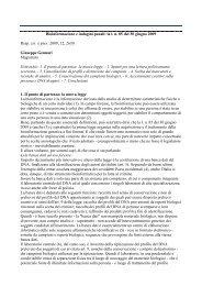 Bioinformazione e indagini penali: la l. n. 85 del 30 giugno 2009 ...