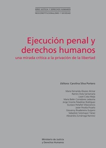 Ejecución penal y derechos humanos - Ministerio de Justicia ...