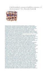 Carichi pendenti e accesso al pubblico concorso - Fisiokinesiterapia ...