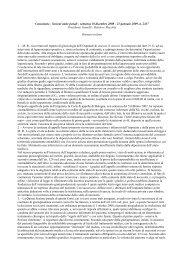 Cassazione - Sezioni unite penali - sentenza 18 dicembre 2008 - 21 ...