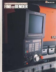 Amada FBD Press Brake Brochure - Sterling Machinery