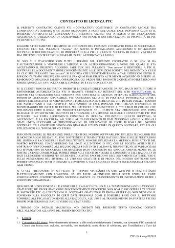 CONTRATTO DI LICENZA PTC - PTC.com
