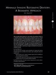 minimally invasive restorative dentistry: a biomimetic ... - Venus
