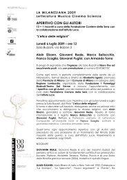 6 luglio - Provincia di Milano