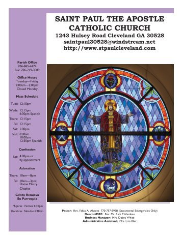 3-3-2013 bulletin - Saint Paul the Apostle Catholic Church