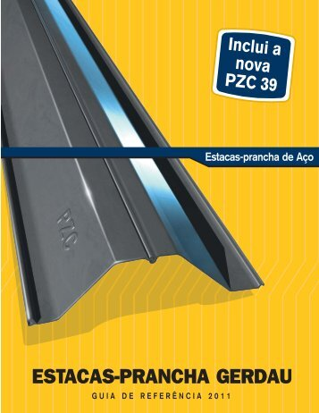 ESTACAS-PRANCHA GERDAU - Sheet-Piling.com