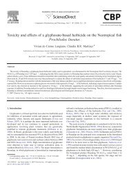 Toxicity and effects of a glyphosate-based herbicide on the ...