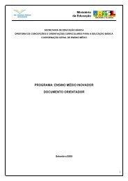 Documento orientador - Ministério da Educação
