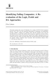 Identifying Failing Companies: A Re- evaluation of the Logit, Probit ...