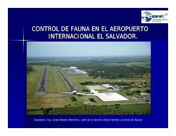 control de fauna en el aeropuerto internacional el salvador.