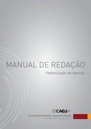 Manual de Redação - CAEd/UFJF – Institucional - Universidade ...