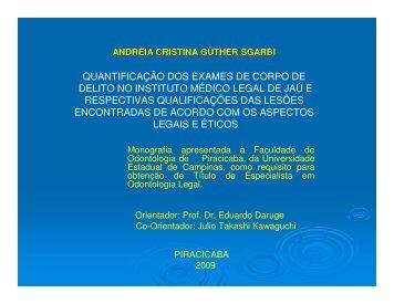 Aula - Faculdade de Odontologia de Piracicaba