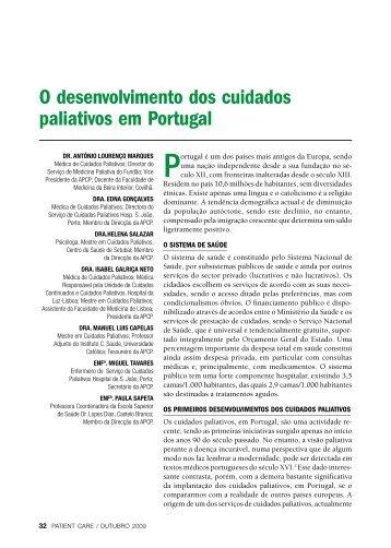 O desenvolvimento dos cuidados paliativos em Portugal