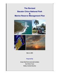 Bacalar Chico Management Plan - Glover's Reef Marine Reserve
