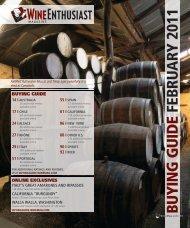 Wine Enthusiast Advance Buying Guide Feb 2011 ... - Empson USA