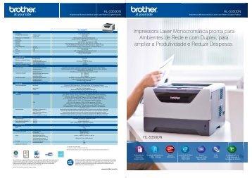Impressora Laser Monocromática pronta para Ambientes ... - Brother