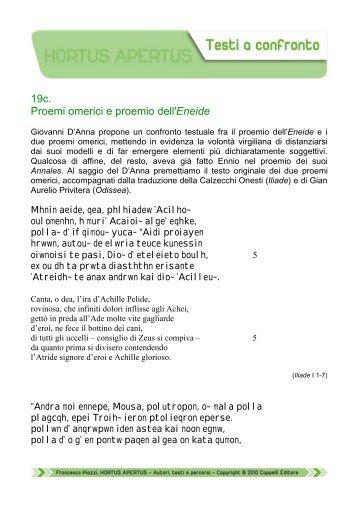 19c. Proemi omerici e proemio dell'Eneide - Edu.lascuola.it