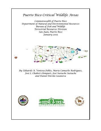 Puerto Rico Critical Wildlife Areas - Puerto DRNA - Gobierno de ...