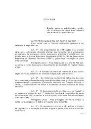 LEI Nº 8120 Dispõe sobre a substituição, proibi- ção e ... - Procempa
