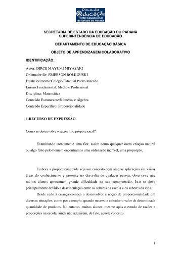 1 secretaria de estado da educação do paraná superintendência de ...