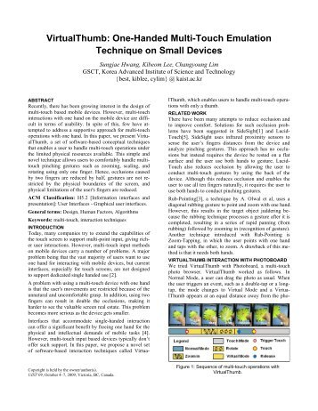 One-Handed Multi-Touch Emulation Technique on Small ... - ACM