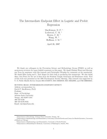 The Intermediate Endpoint Effect in Logistic and Probit Regression