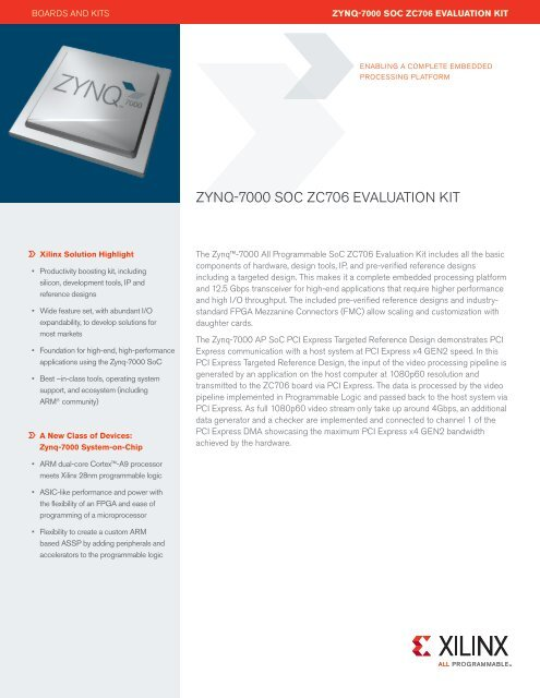 ZYnQ-7000 soc Zc706 Evaluation Kit - Xilinx