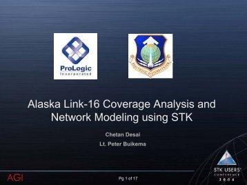 Alaska Link-16 Coverage Analysis and Network Modeling - AGI