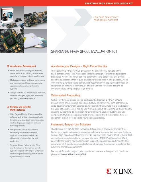 Spartan-6 FPGA SP605 Evaluation Kit - Xilinx