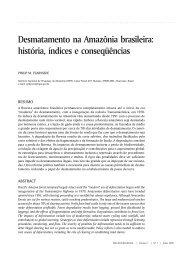 Desmatamento na Amazônia brasileira: história, índices e ...