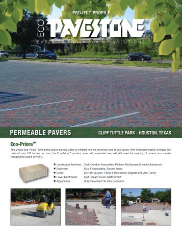 Cliff Tuttle Park - Gulf Coast Pavers