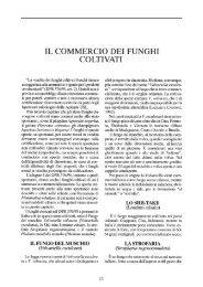 IL COMMERCIO DEI FUNGHI COLTIVATI - Veneto Agricoltura