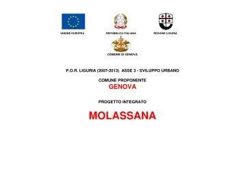 Progetto Integrato relativo all'Ambito Molassana - Urban Center ...